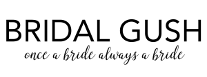 Bridal Gush Text black and white