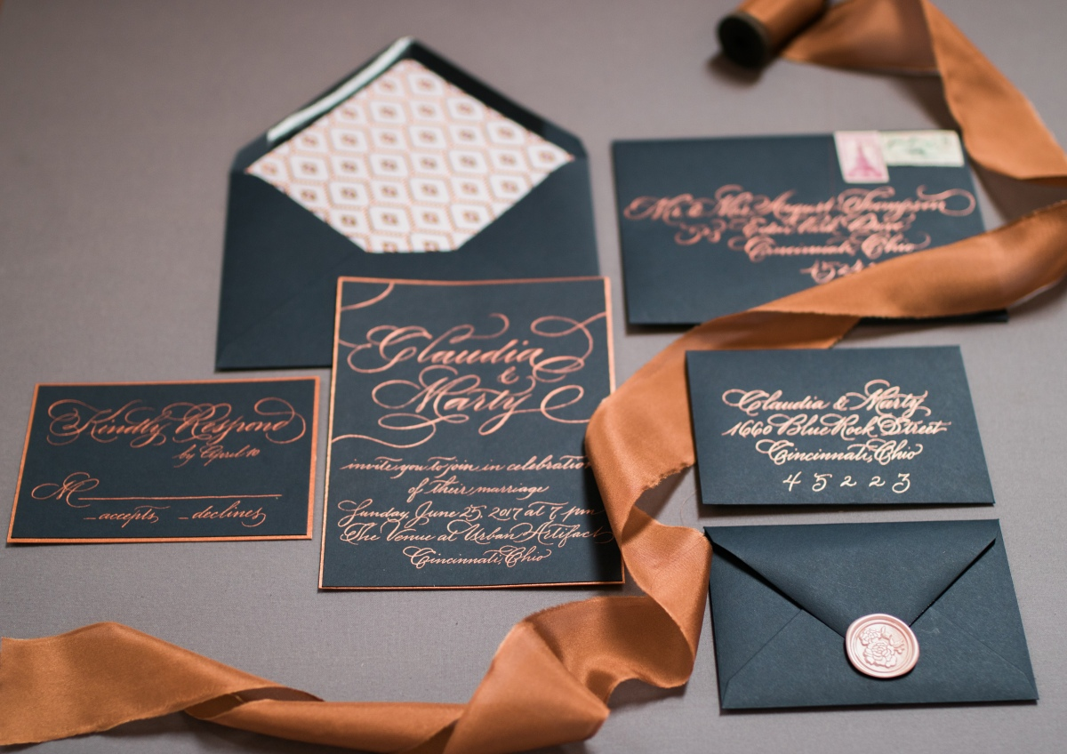 An Enchanting Copper Wedding Inspiration Shoot In Cincinnati, Ohio