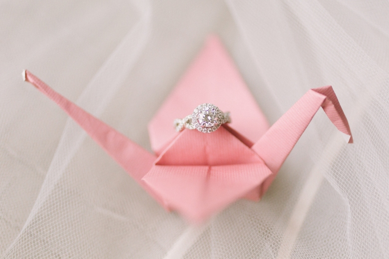 Paper Cranes and Diamond Rings | Laura Beth and Michael | Vintage Old World Chic