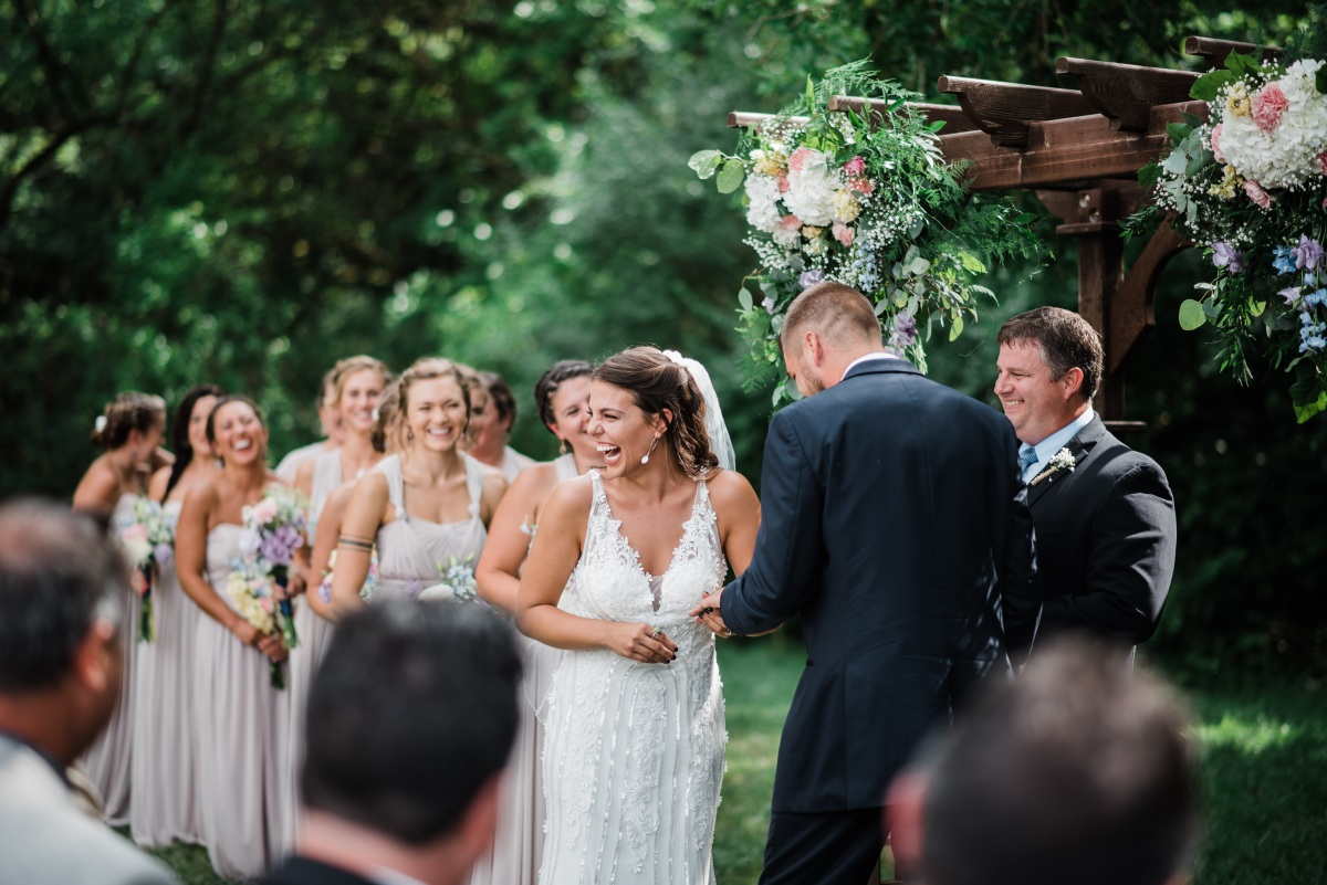 Smiles Steal The Show Of This Vintage Inspired DIY Wedding