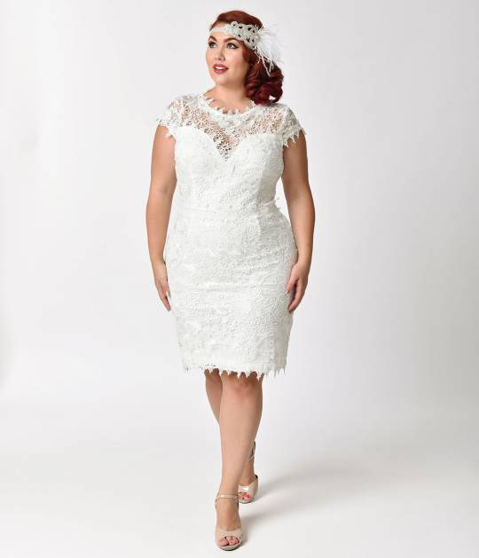 Plus_Size_Vintage_Style_White_Floral_Lace_Cap_Sleeve_Wiggle_Dress_ (1)