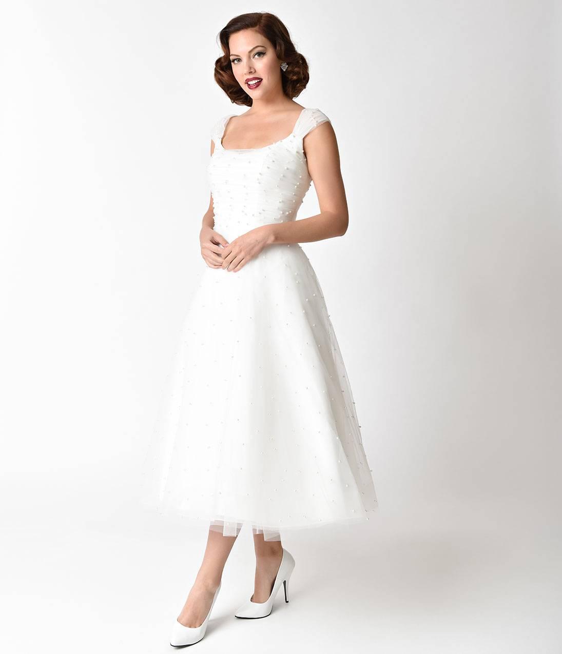 Voodoo_Vixen_1950s_White_Pearl_Beaded_Cap_Sleeve_Betsy_Bridal_Dress_3
